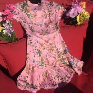 Mini Dress Pink Floral SOUTH BEACH BAE Size S NWOT